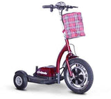 EWheels Ew-18R Stand/Ride Scooter With Folding Tiller- Red - FunRidingToys.com