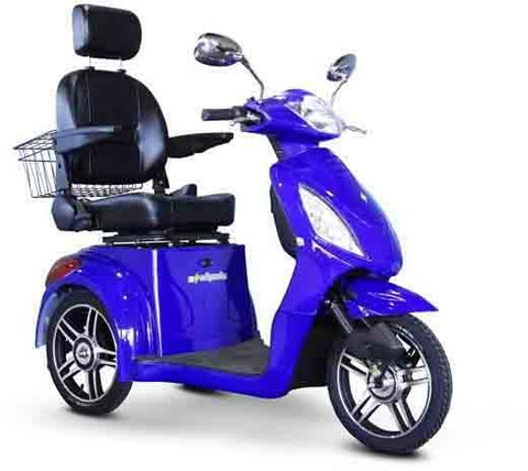 EWheels Ew-36B 3 Wheel 350Lbs Wt Capacity Scooter High Speed Of 15Mph -Royal Blue - FunRidingToys.com