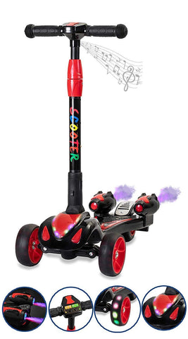 GLARE Y1 Black Electric Scooter - FunRidingToys.com