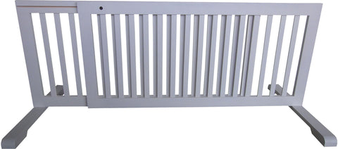 "MDOG2 Free Standing Step Over Gate - 39.8""-72"" - White - Peazz.com"