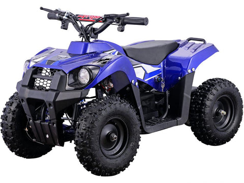 MotoTec MT-ATV6-Blue Monster 36v 500w ATV Blue - FunRidingToys.com