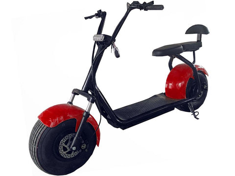 MotoTec MT-Commuter-1000-Red Commuter 1000w Lithium Electric Scooter Red