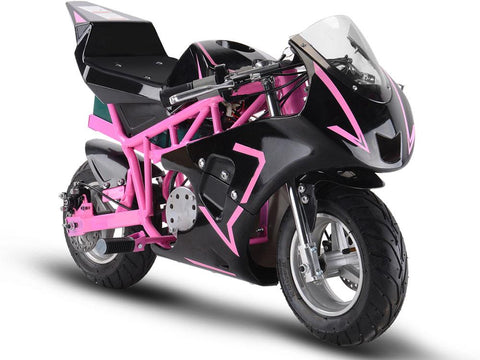 MotoTec MT-Elec-GP-Pink Electric Pocket Bike GP 36v 500w Pink