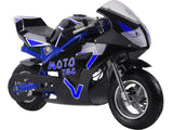 MotoTec MT-Elec-GT-Blue Electric Pocket Bike GT 36v 500w Blue