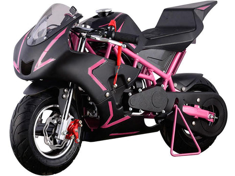 MotoTec MT-GP-Cali-Pink Cali Gas Pocket Bike 40cc Pink - FunRidingToys.com