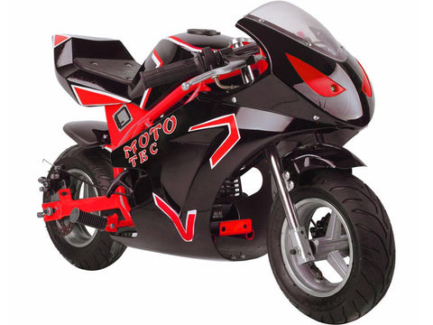 MotoTec MT-Gas-GT-Red Gas Pocket Bike GT 49cc 2-stroke Red - FunRidingToys.com