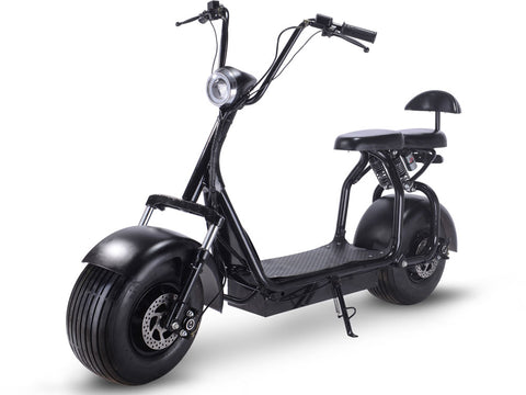 MotoTec Knockout 48v 1000w Electric Scooter Black - FunRidingToys.com