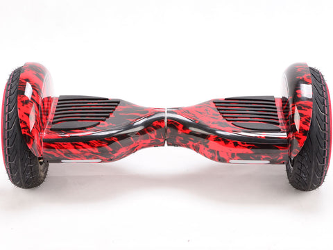 MotoTec MT-SBS-10-RedFire Hoverboard 36v 10inch Matte Red Fire