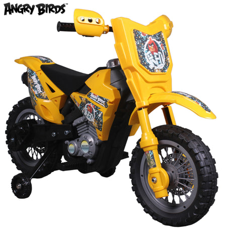 "Angry Birds ""Red"" 6V Battery Operated Kids Ride On Dirt Bike - Yellow - FunRidingToys.com"