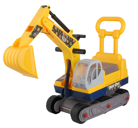 "Angry Birds ""Red"" Ride-on 6-Wheel Excavator On Wheels with Back - Yellow - FunRidingToys.com"