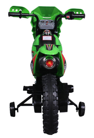 Vroom Rider VR093 Battery Operated 6V Kids Dirt Bike (Green)