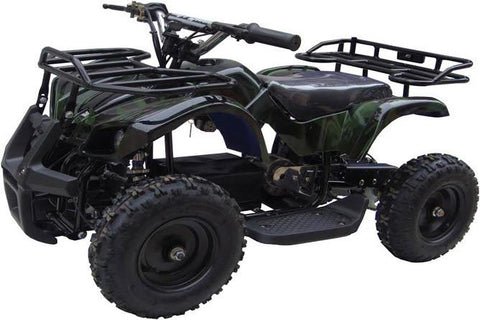 Go-Bowen XW-EA16-GC Green Camo Sonora Kids Electric Quad Battery-Powered ATV - FunRidingToys.com