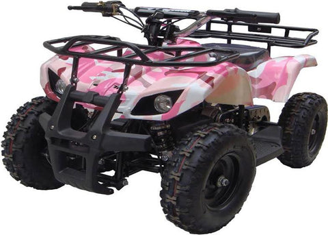 Go-Bowen XW-EA16-PC Pink Camo Sonora Kids Electric Quad Battery-Powered ATV - FunRidingToys.com