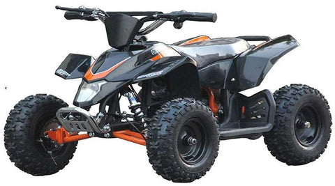 Go-Bowen XW-EA18-BLK Black Sahara X Kids Electric Quad Battery-Powered ATV - FunRidingToys.com