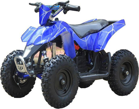 Go-Bowen XW-EA18-BS Blue Spider Sahara X Kids Electric Quad Battery-Powered ATV - FunRidingToys.com