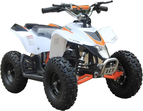 Go-Bowen XW-EA18-W White Sahara X Kids Electric Quad Battery-Powered ATV - FunRidingToys.com