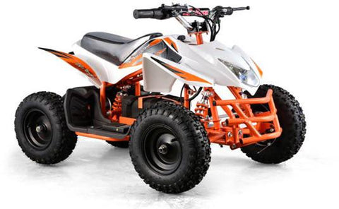 Go-Bowen XW-EA23-W White Titan Kids Electric Quad Battery-Powered ATV - FunRidingToys.com