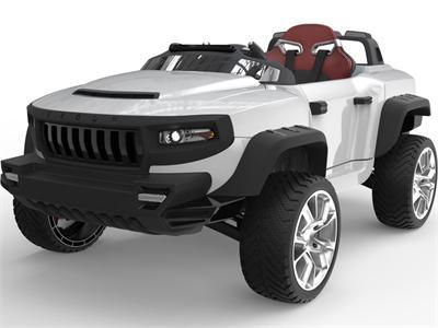 Henes BR-T870-White Broon T870 4x4 Ride-On Car 24v with Tablet (RC) White - FunRidingToys.com