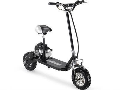 MotoTec MT-GS3-Black 3-Speed 49cc Gas Scooter - FunRidingToys.com