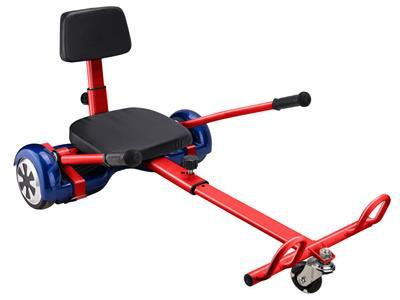 MotoTec MT-HoverKart-Red Hover Go Kart Attachment Red