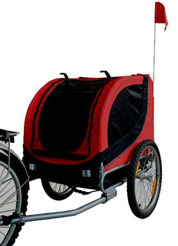 MDOG2 Comfy MK0001 Pet Bike Trailer - Red/Black - FunRidingToys.com