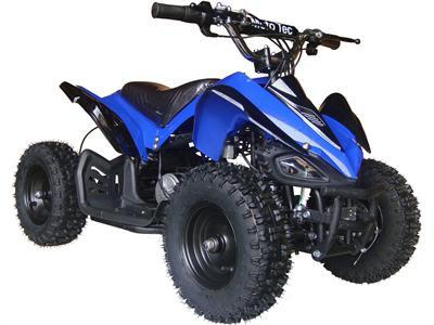 MotoTec MT-ATV2_Blue Mini Electric Quad Battery-Powered v2 Blue - FunRidingToys.com