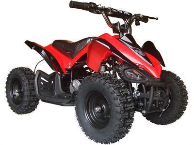 MotoTec MT-ATV2_Red Mini Electric Quad Battery-Powered v2 Red - FunRidingToys.com