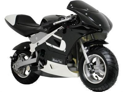 MotoTec Gas Pocket Bike Black - FunRidingToys.com