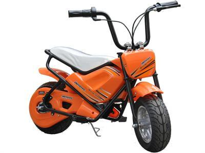 MotoTec MT-MB_Orange Electric Mini Bike 24v - Peazz.com