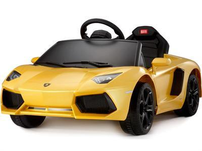 Rastar RA-81700_Yellow Lamborghini Aventador 6v Yellow RC - Peazz.com