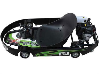 ScooterX Power Kart 49cc Black/Green - Peazz.com