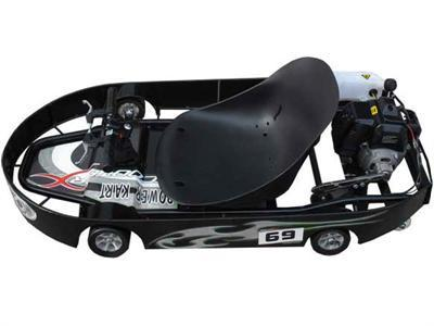 ScooterX Power Kart 49cc Black/Silver - Peazz.com