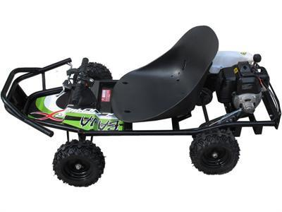 ScooterX Baja Kart 49cc Black/Green - Peazz.com