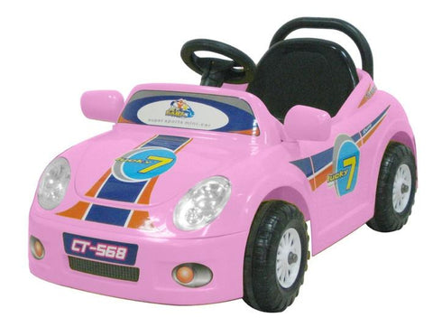 CTM Kids Mini Single Rider Roadster Pink - FunRidingToys.com