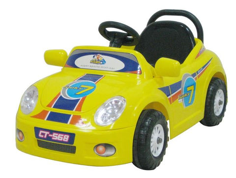 CTM Kids Mini Single Rider Roadster Yellow - FunRidingToys.com