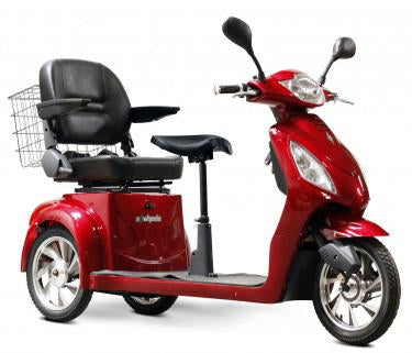 EWheels Ew 66 R 2 Passenger Senior Scooter -Red - FunRidingToys.com