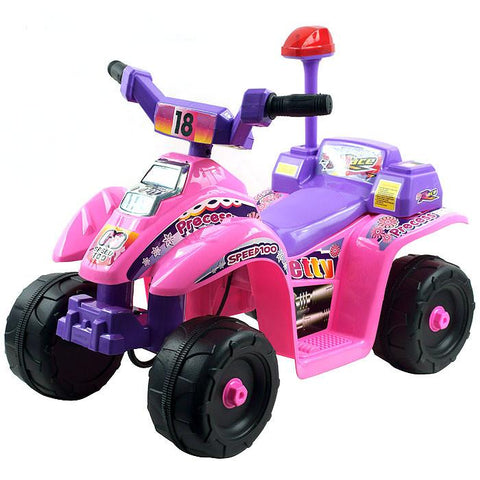 EZ Riders 4 Wheeler Battery Operated Mini ATV - Pink/Purple - FunRidingToys.com
