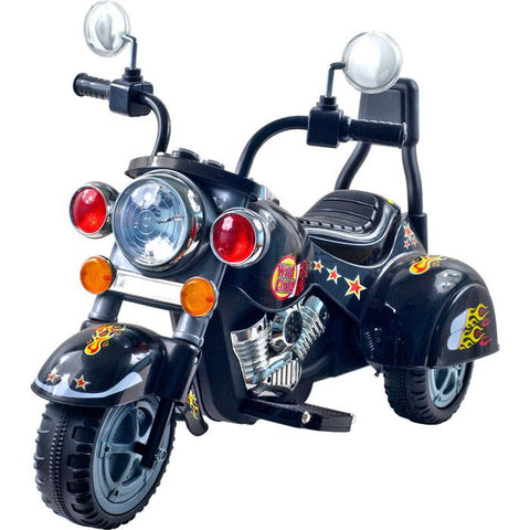 Harley Style Wild Child Ride On Motorcycle - Black - FunRidingToys.com