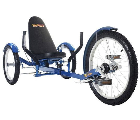 "Triton Mobo 16"" Three-Wheeled Cruiser Blue - Peazz.com"