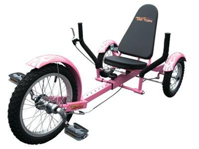 "Triton Mobo 16"" Three-Wheeled Cruiser Pink - Peazz.com"
