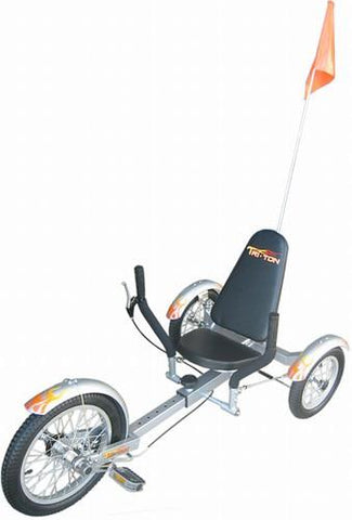 "Triton Mobo 16"" Three-Wheeled Cruiser Silver - Peazz.com"