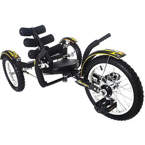 "Triton Mobo Mobito 16"" Three-Wheeled Kid's Cruiser Black - Peazz.com"