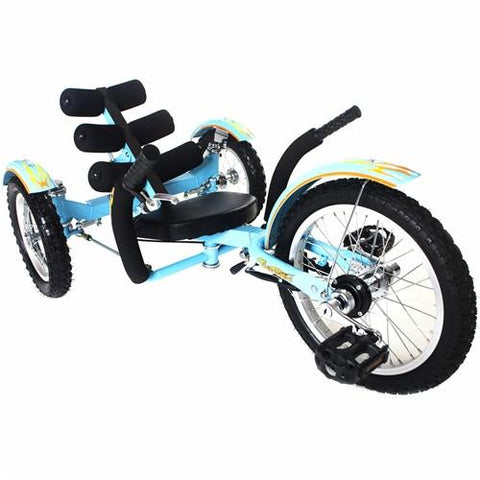 "Triton Mobo Mobito 16"" Three-Wheeled Kid's Cruiser Blue - Peazz.com"
