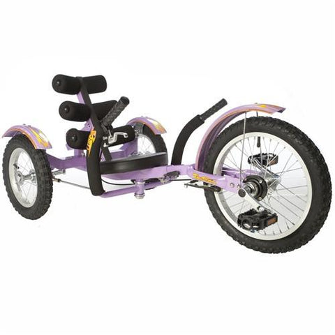 "Triton Mobo Mobito 16"" Three-Wheeled Kid's Cruiser Purple - Peazz.com"