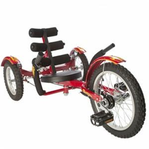 "Triton Mobo Mobito 16"" Three-Wheeled Kid's Cruiser Red - Peazz.com"