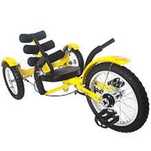 "Triton Mobo Mobito 16"" Three-Wheeled Kid's Cruiser Yellow - Peazz.com"