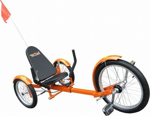"Triton Mobo Pro 20"" Three Wheeled Cruiser Orange - Peazz.com"
