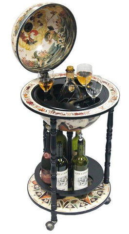 "Bianco 17-1/2"" Diameter Italian Replica Globe Bar - White - FunRidingToys.com"
