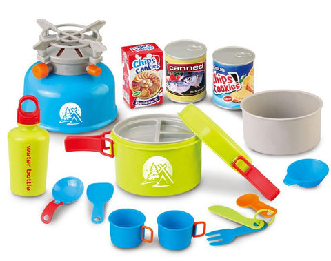 Berry Toys BR008-80D Little Explorer Camping Cooker 15-Piece Play Set - FunRidingToys.com