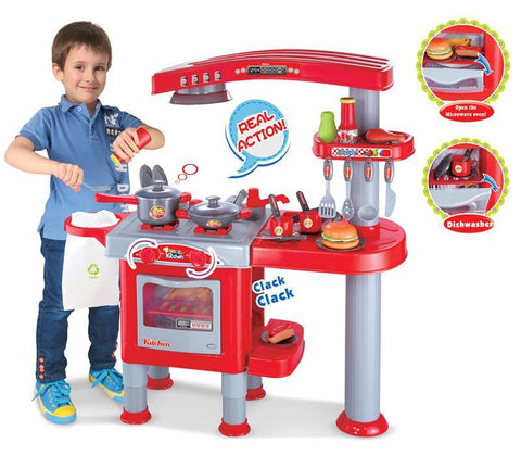 Berry Toys BR008-83 My First Play Kitchen - Red - FunRidingToys.com
